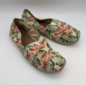 Toms Canvas Feathers slip on loafers